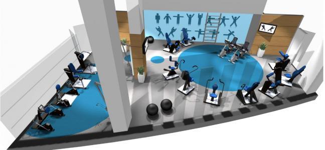 sala fitness 80m2 HUR